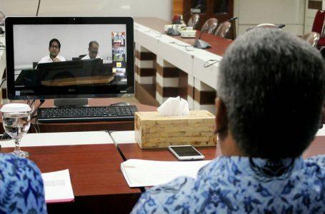 Teleconference: Pemerintah Pusat Apresiasi Inovasi Sistem Transaksi Nontunai Kubu Raya