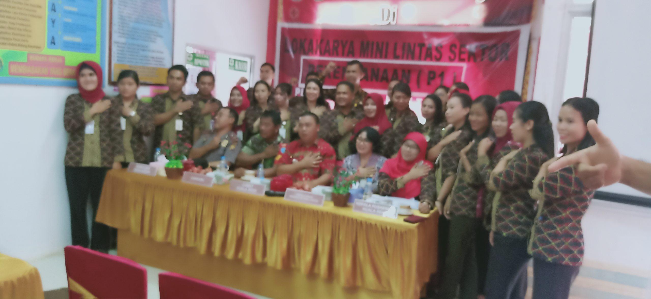 Puskesmas Kuala Behe mengadakan Lokakarya Mini Lintas Sektoral