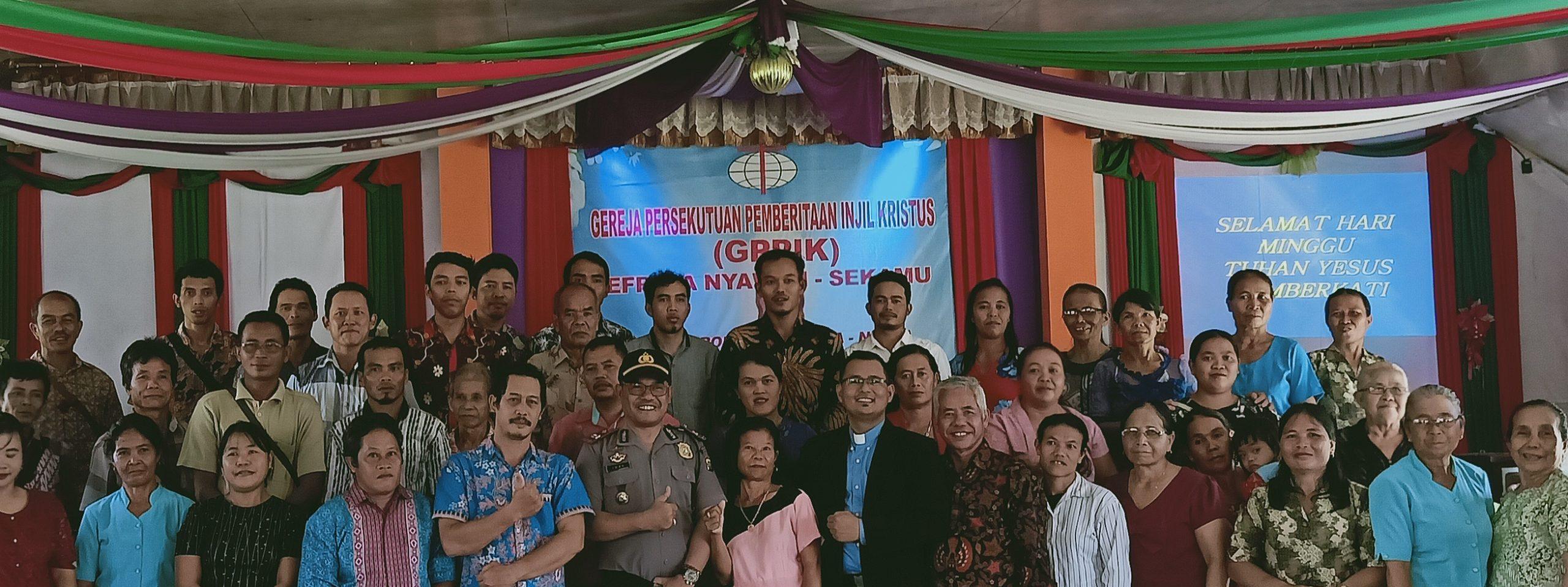 Kapolsek Kuala behe berikan himbuan di Gereja PPIK